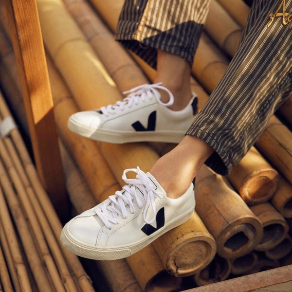 1c38662afcace3 Veja Leather Extra Sneakers  Black White