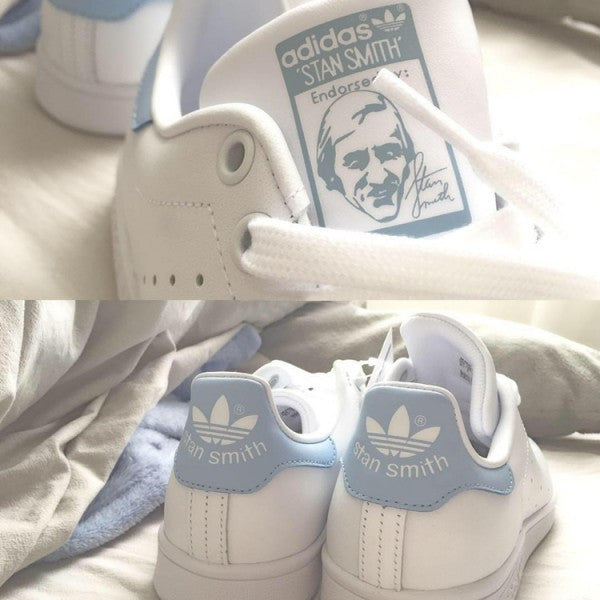 "Adidas Stan Smith ""White/Baby Blue""-BA7673"