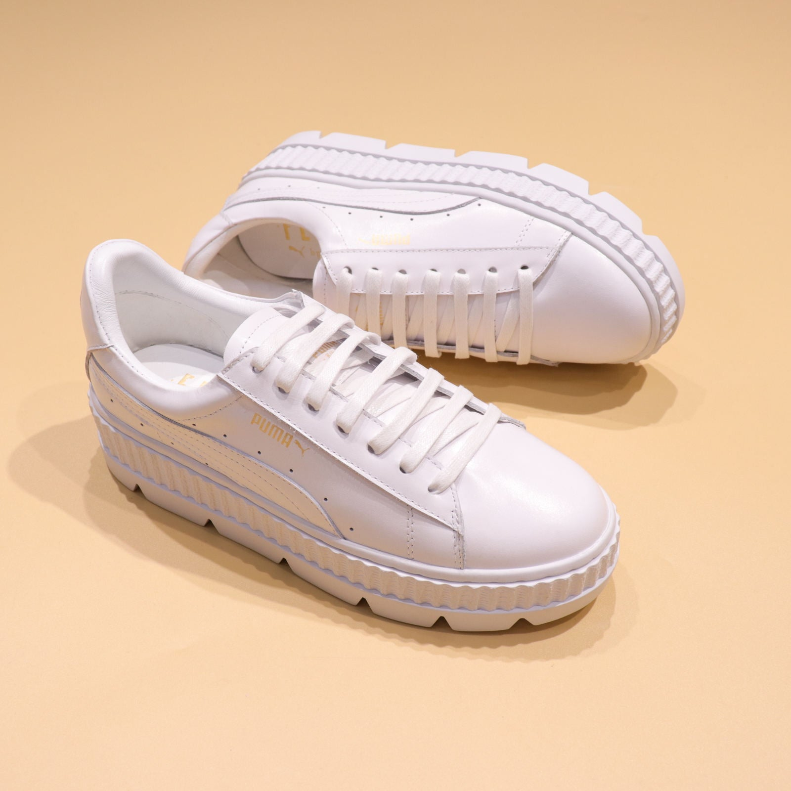 f28b55a7e29695 Rihanna x Puma Fenty Cleated Creeper  White