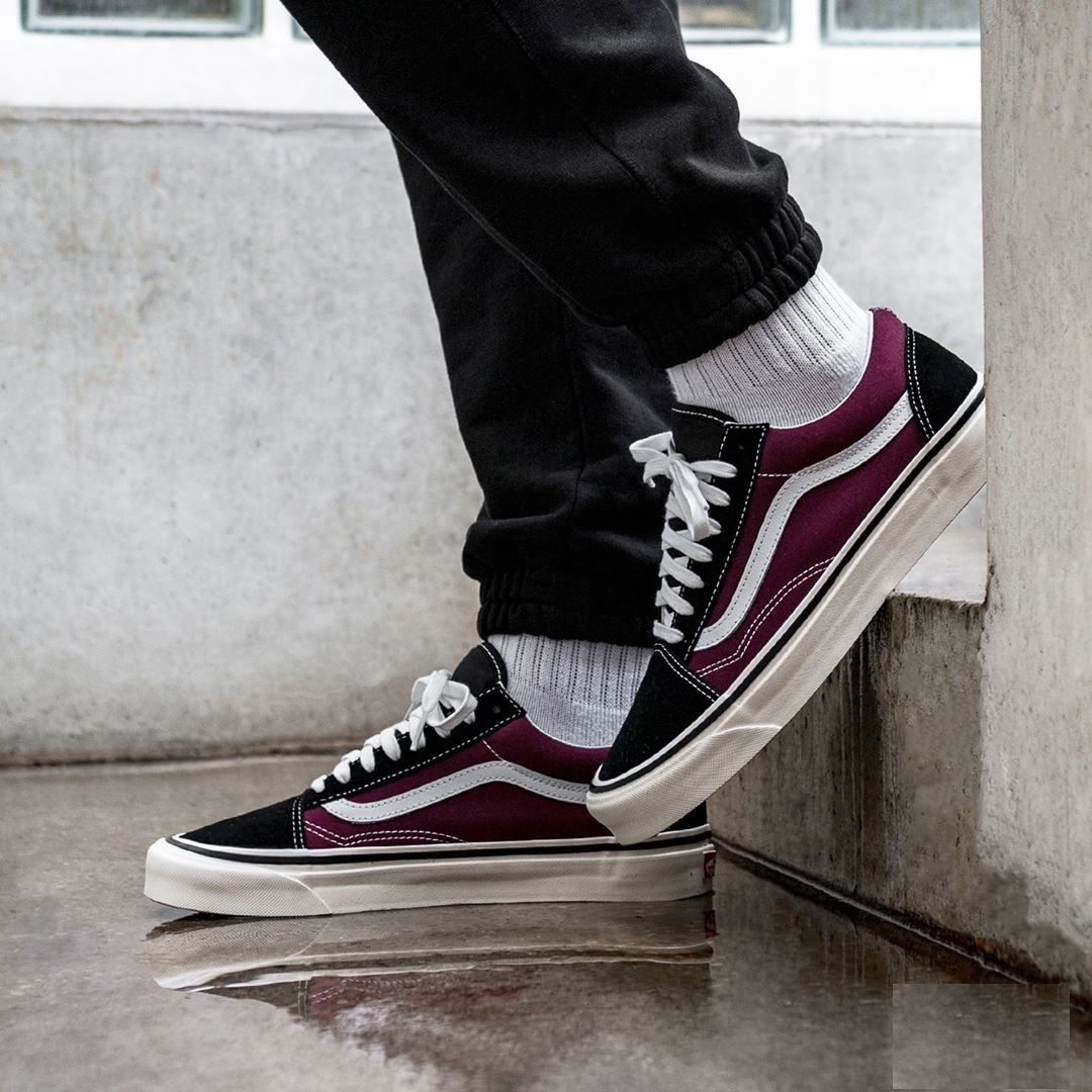 ccef473d87 Vans Old Skool 36 DX Anaheim Factory Black   OG Burgundy
