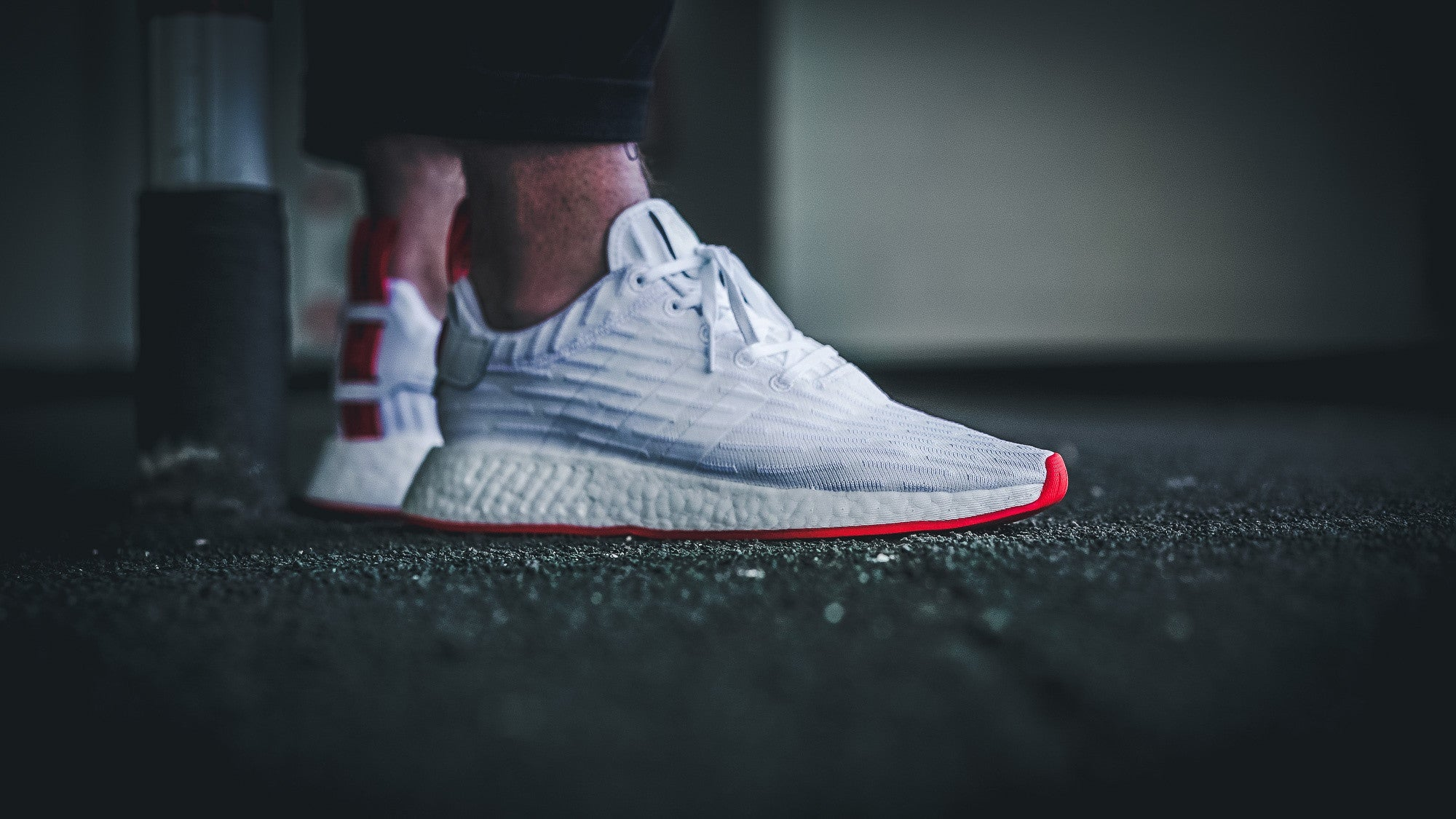 adidas nmd r2 primeknit 39 footwear white core red 39. Black Bedroom Furniture Sets. Home Design Ideas