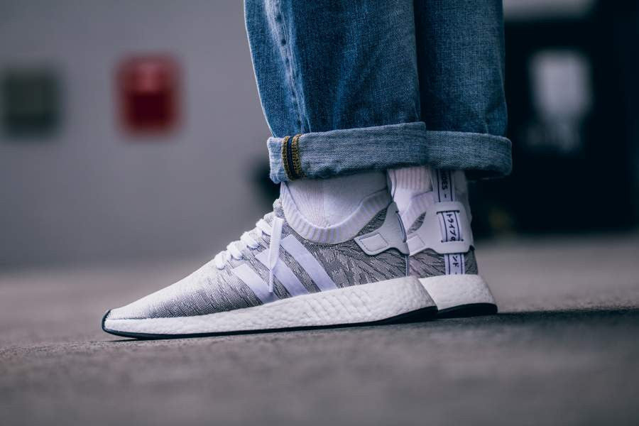 well known classic shoes high quality Buy adidas Originals NMD R2 PK PrimeKnit Grey White Men ...