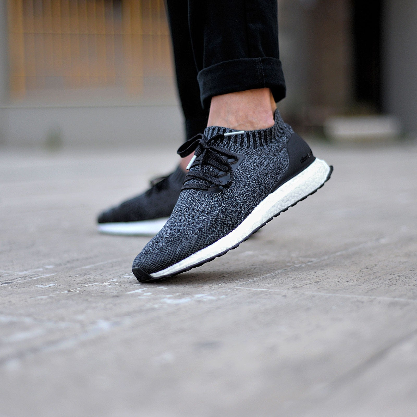 adidas ultra boost uncaged core black mens nz