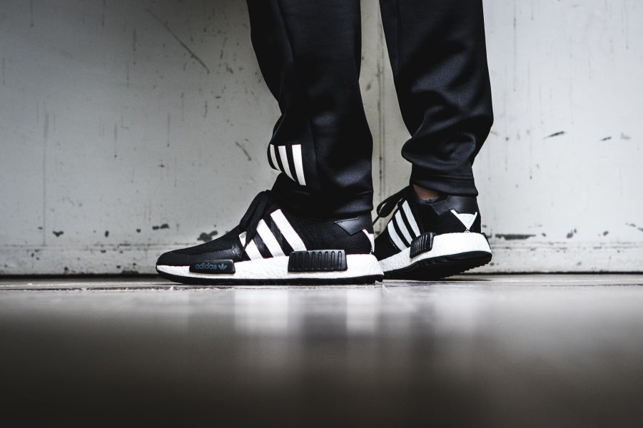 02f5e3e6460e ... White Mountaineering x Adidas NMD Trail PK  Core Black Footwear White   (Tmall ...