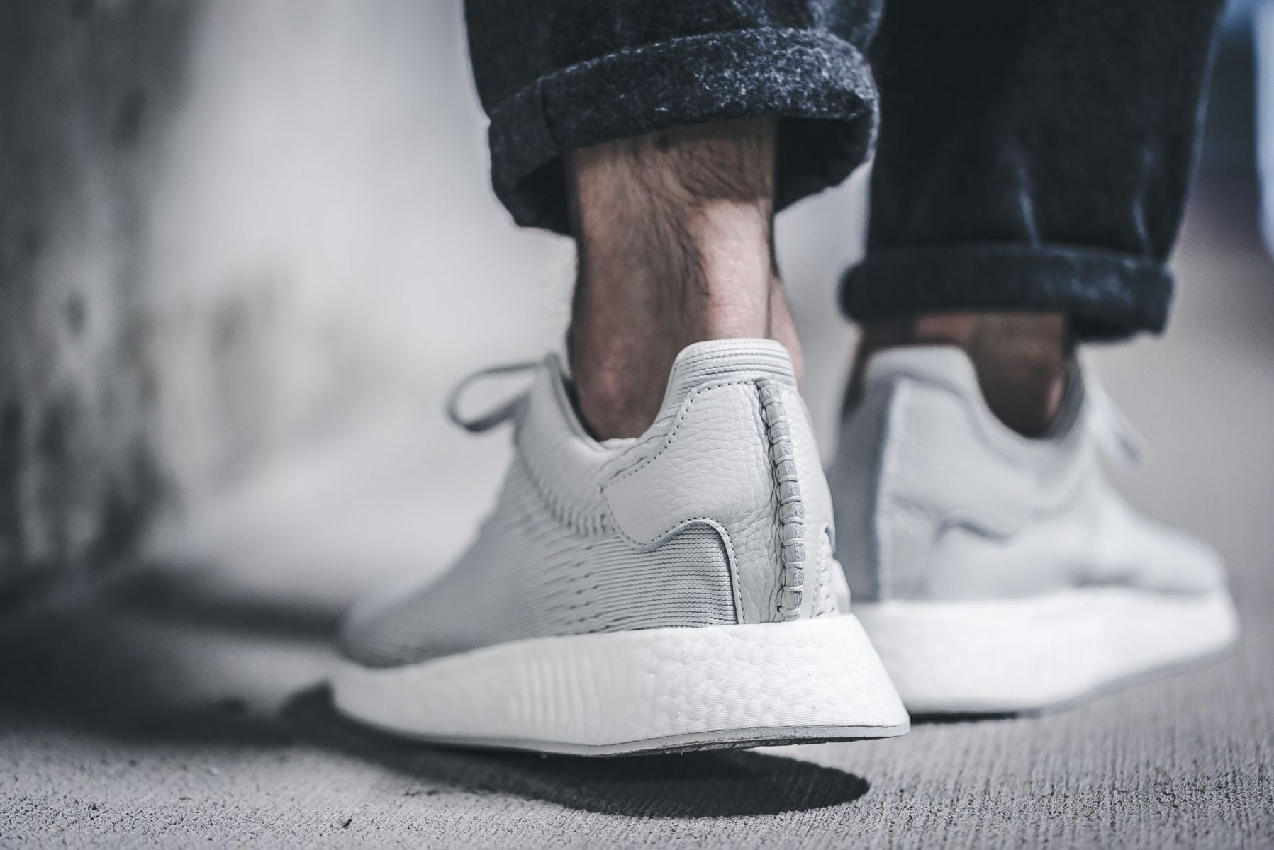 uk availability f89c5 7ed06 wings+horns x adidas nmd r2 primeknit light grey ftw white ...