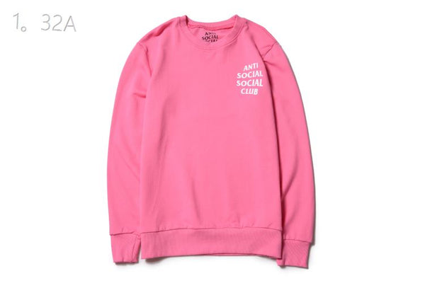 445cd199f737 Anti Social Social Club Pink   White Sweater