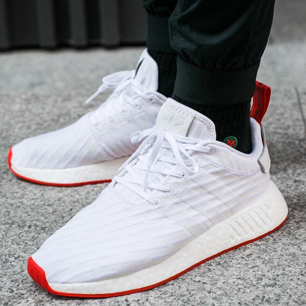 ed5c101cd adidas nmd r2 white and red adidas nmd r1 primeknit grey pink ...