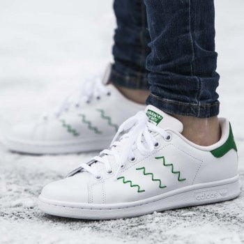stan smith adidas green stripes nz