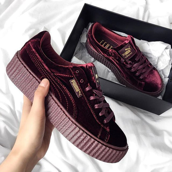 PUMA by Rihanna Velvet Creeper  Burgundy  b8fa831d9be6