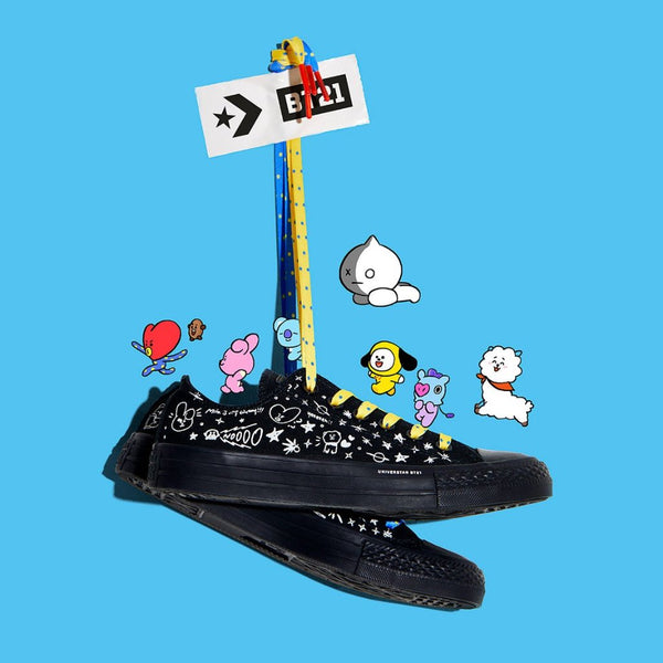 BT21 X Converse Chuck Taylor All Star ''Black'( Low Top )