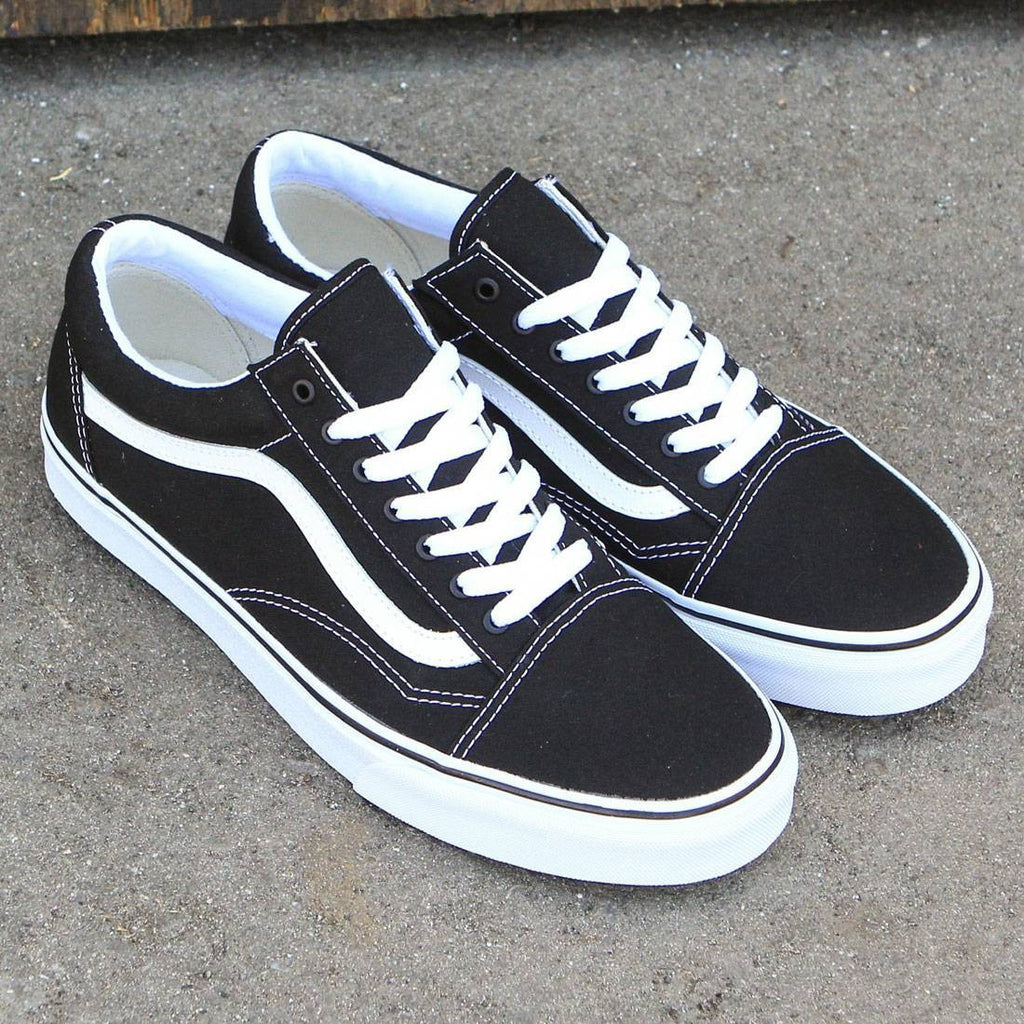 vans canvas old skool classic black true white. Black Bedroom Furniture Sets. Home Design Ideas