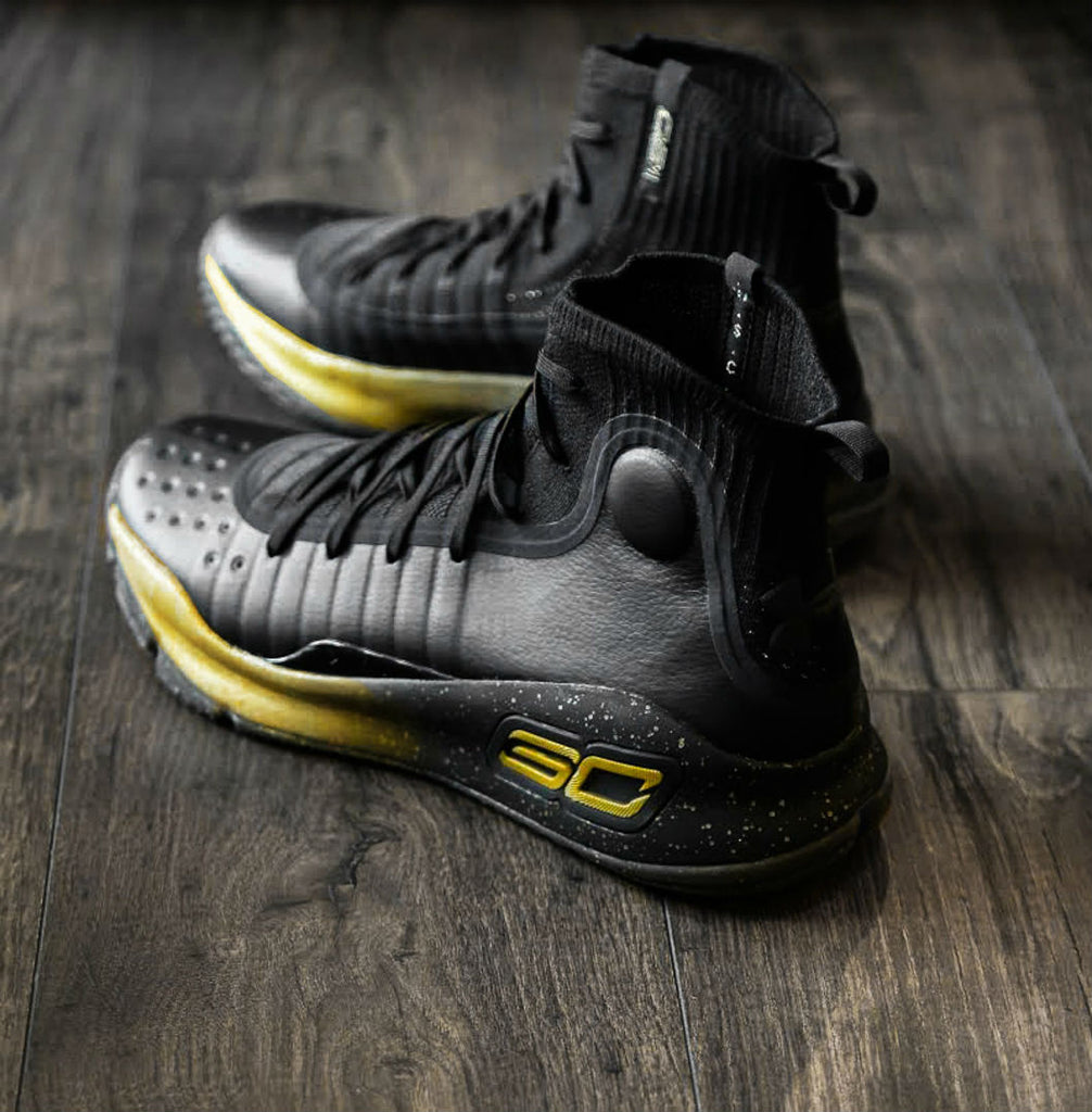 Under Armour Curry 4 Finals  Black Gold  faae2ee0f7bf