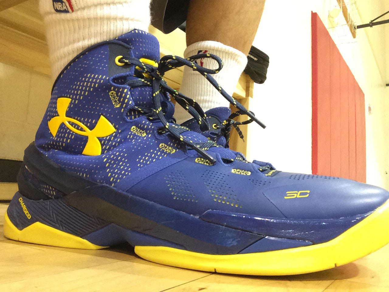 Ua Stephen Curry 2 Deep Blue Yellow