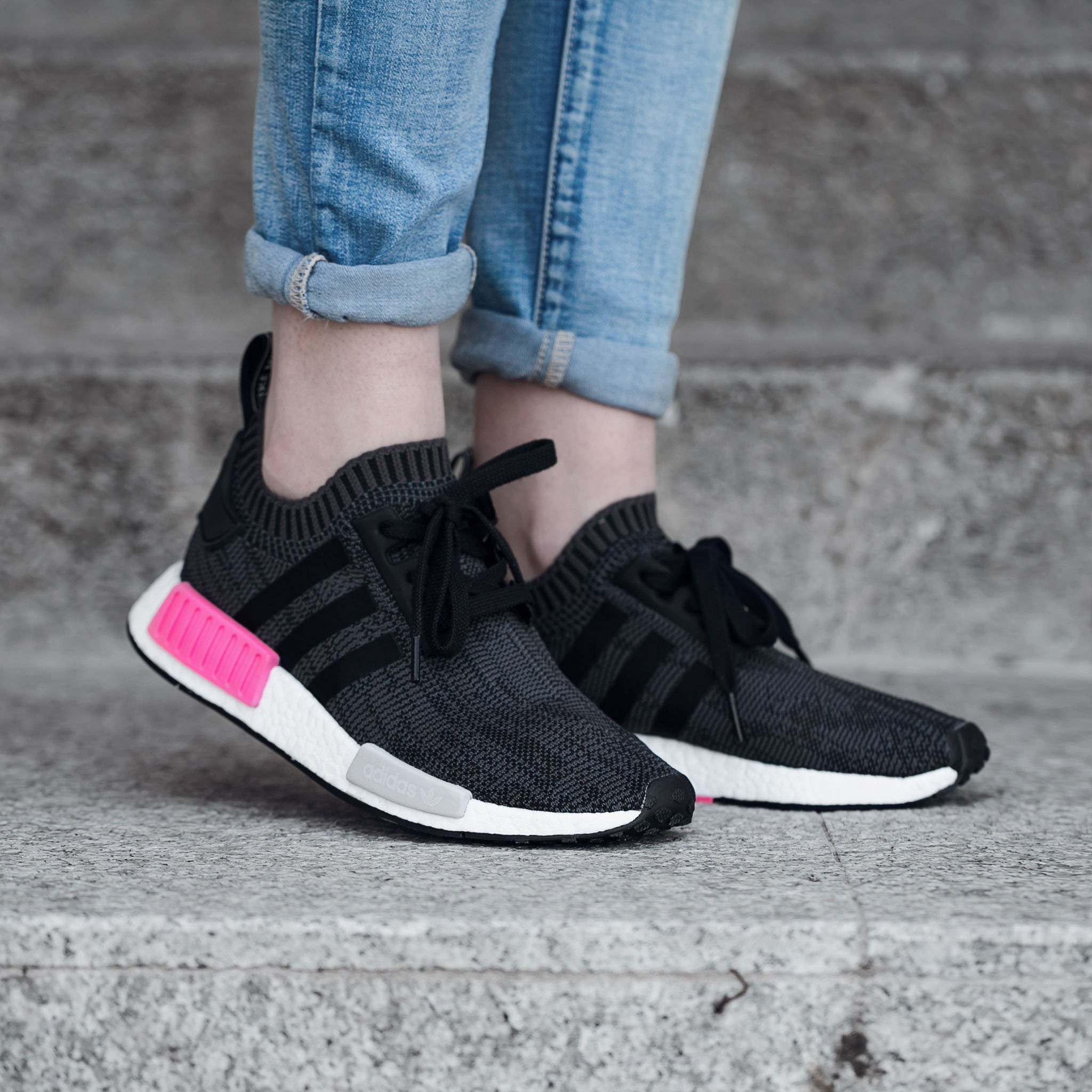 adidas NMD R1 Primeknit Black/Pink / First Look