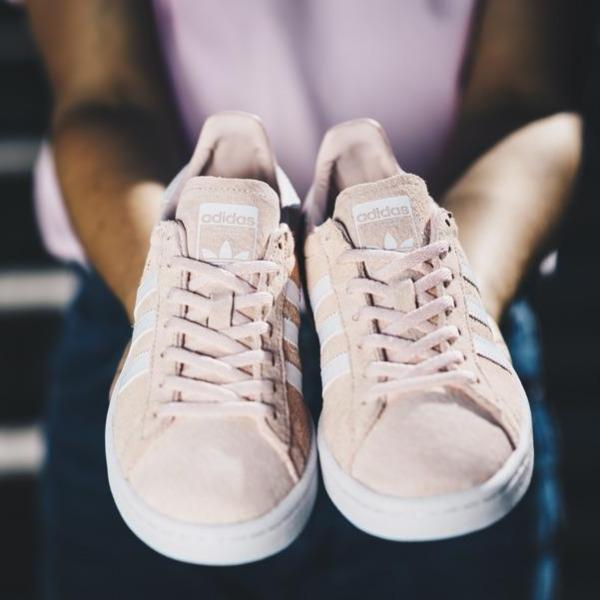 Adidas  Campus (Ice Pink/Running White/Crystal White)