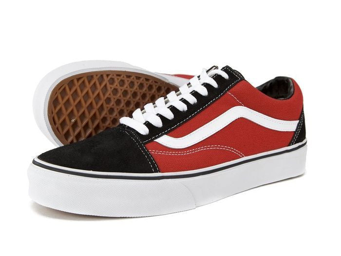 red and black vans