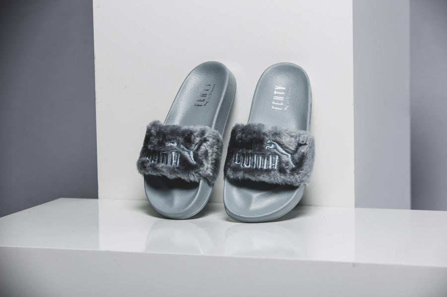 puma by rihanna fur slides