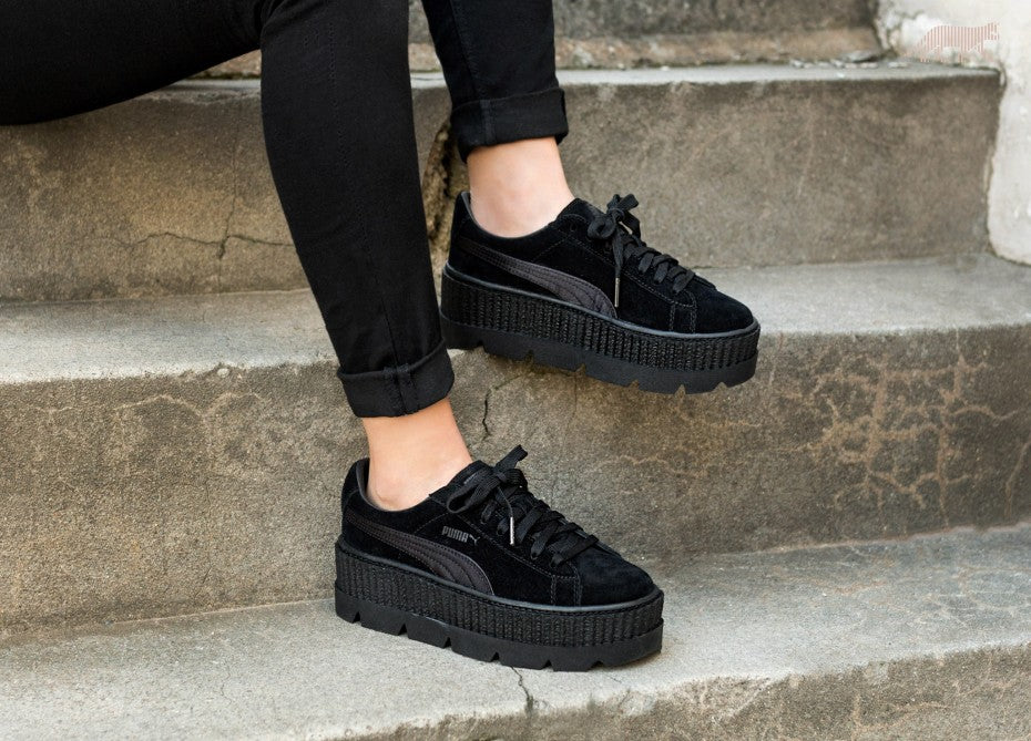 puma fenty creeper black