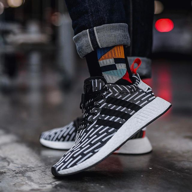 NMD R2 Primeknit 'Core Black/Footwear White' (Tmall ORIGINAL)