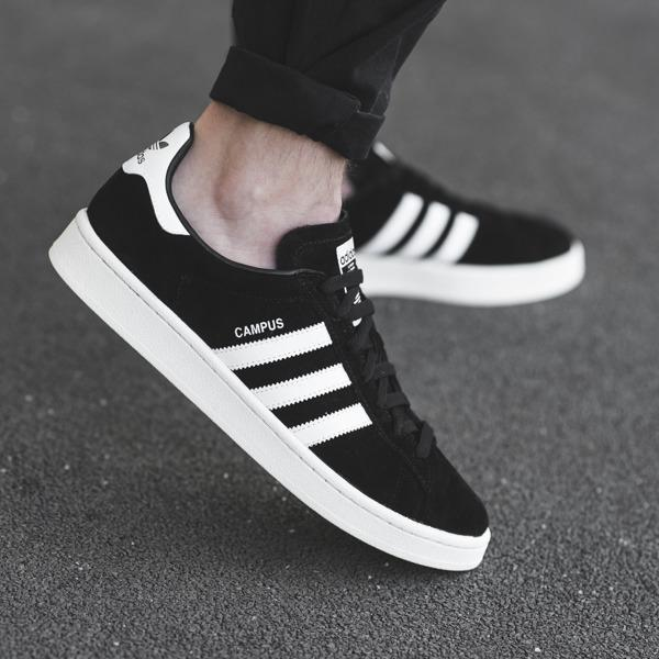 Adidas  Campus - Core Black / Ftwr White / Chalk White