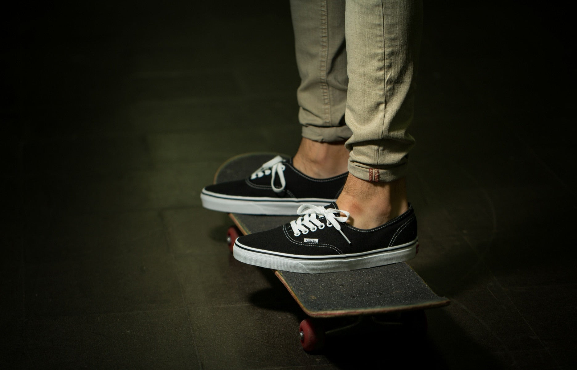 vans authentic black and white cheap