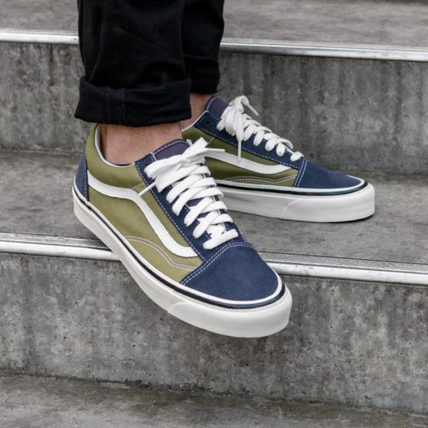 Vans Old Skool 36 DX Anaheim Factory OG Navy / Olive