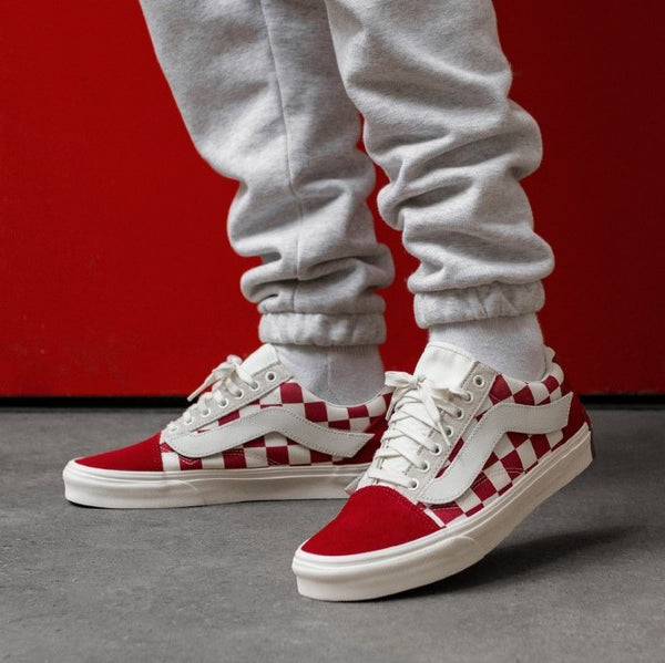 efe029c8c7 Vans Year Of The Pig X Purlicue Old Skool Racing Red   Marshmallow