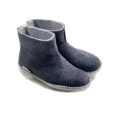 Charcoal Felted Boots