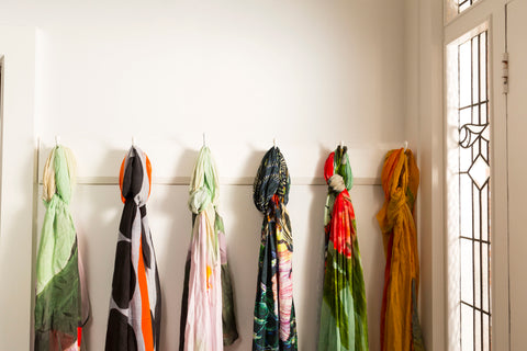 Spring and Summer Scarves in silk, cotton and viscose and cashmere