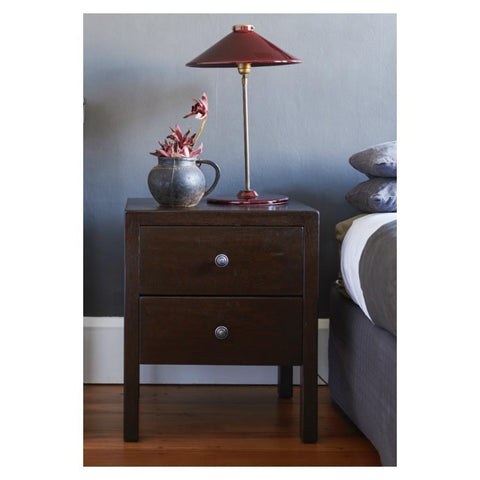 500 x 400 x 600 Contemporary Bedside 2 drawer