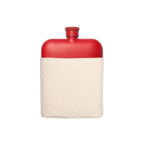 6 Oz Flask with Canvas Sleeve