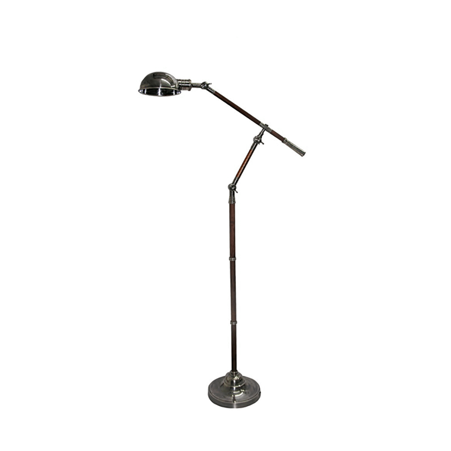 Adjustable Floor Lamp with  Wooden detail