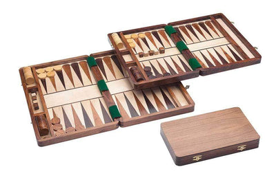 Backgammon inlayed wood