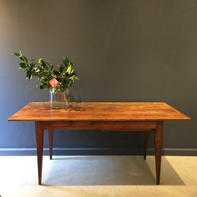 Beech  & Oak Antique Dining Table c1860