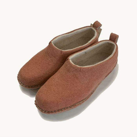 Berry Soft Half Boot | Felt Slippers
