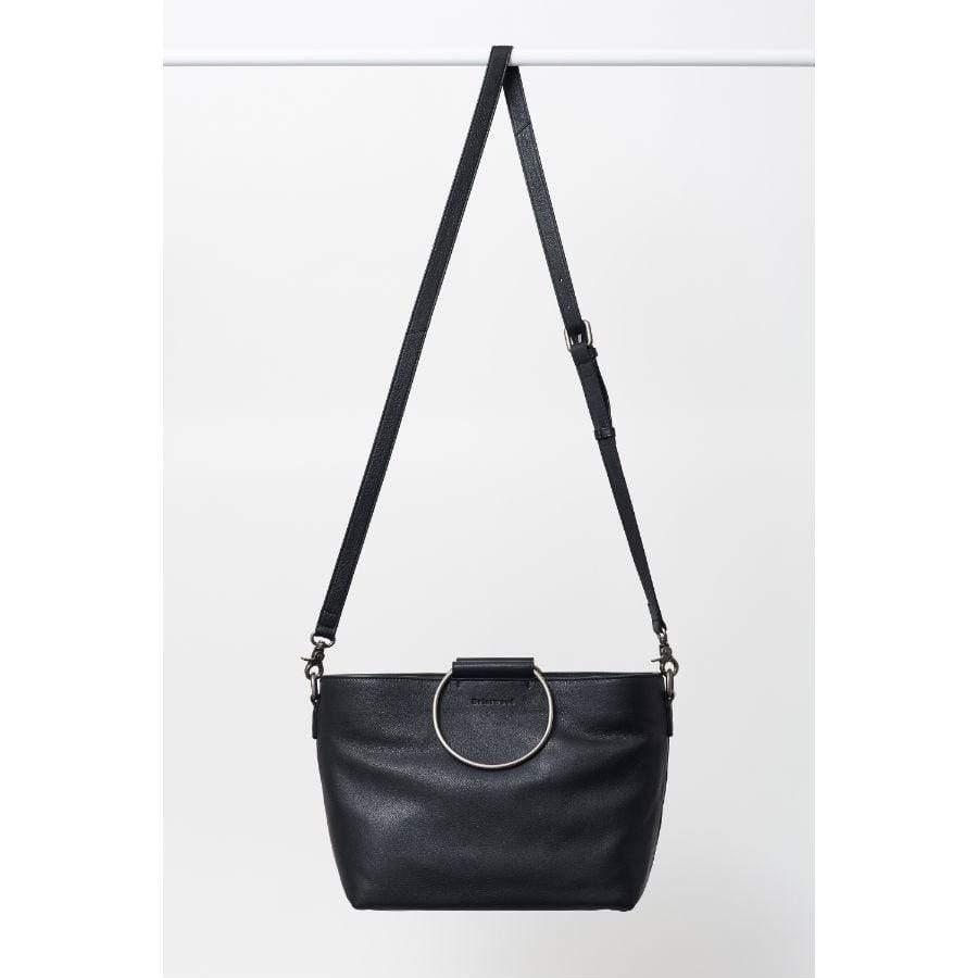 Black Briarwood Paloma Leather Handbag