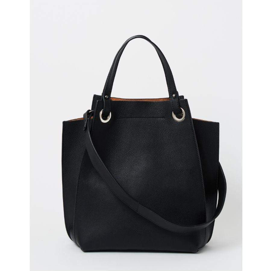 Black Briarwood Poppy Leather Handbag