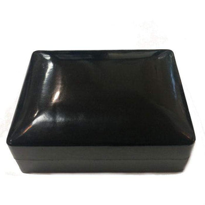 Black Italian Leather Jewellery Box