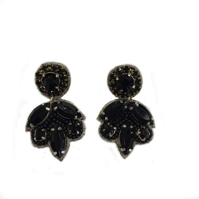 Black Leaf Drop Earring