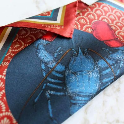 Boxing Lobster Boxing Lobster Silk Pocket Square