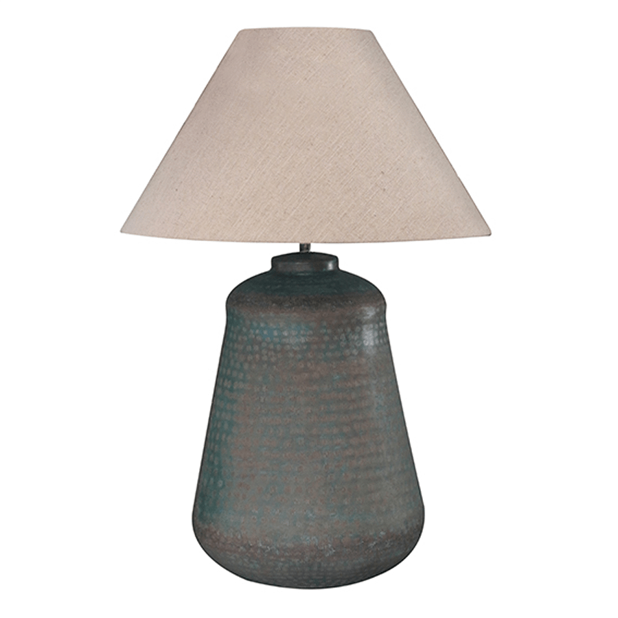 Brass Lamp in Verdigris Antiqued Finish with Shade
