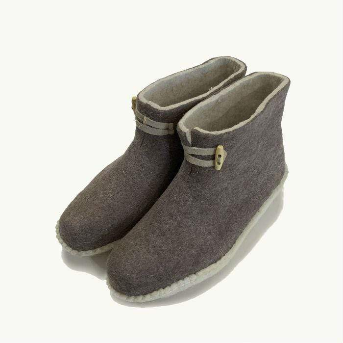 Brown Felted Boot | Felt Slippers