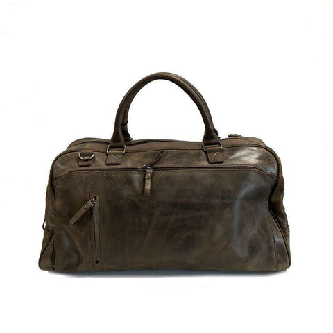 Brown Mackay Leather Overnight Bag