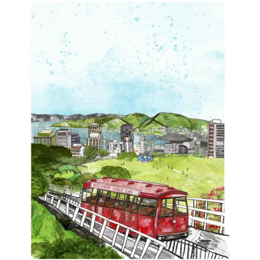Cable Car Wellington Print