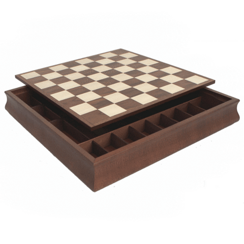 Chess board box and pieces