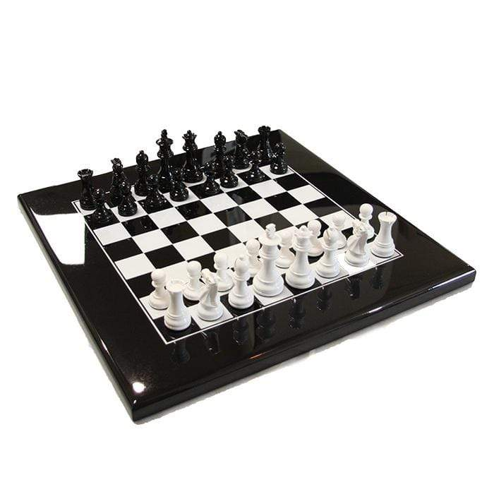 Chess Set Black and White Weighted
