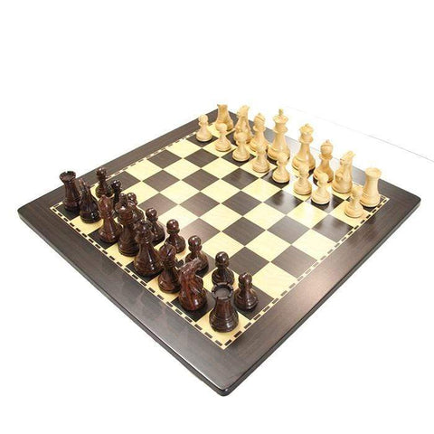 Chess Set Rosewood pieces, Ebony board
