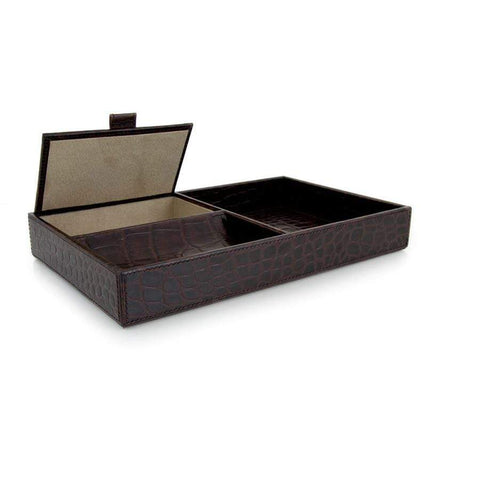 Chocolate Mens Open Valet Tray - Croc