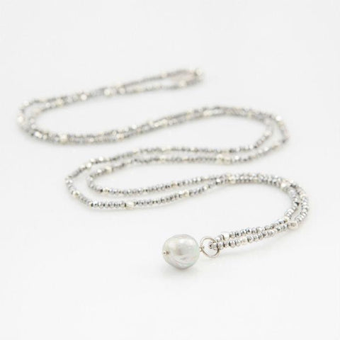 Chrissy silver necklace