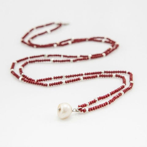 Chrissy wine red necklace